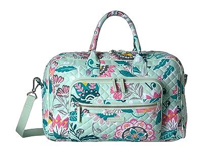Vera Bradley Iconic Compact Weekender Travel Bag (Mint Flowers) Weekender/Overnight Luggage