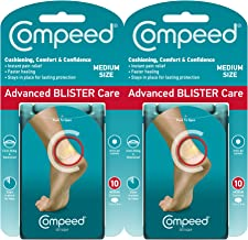 Compeed Advanced Blister Care Cushions 10 Count Medium Pads (2 Pack)
