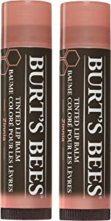 Burt's Bees 100% Natural Tinted Lip Balm, Zinnia with Shea Butter & Botanical Waxes - 1 Tube, Pack of 2