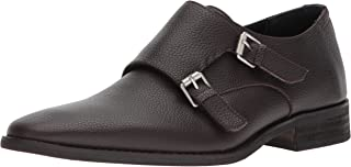 Robbie Tumbled Leather Monk-Strap Loafer