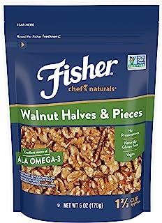 Sponsored Ad - Fisher Nuts Chef's Naturals Walnut & Pieces, Naturally Gluten Free, No Preservatives, Non-GMO, P02343 ,Halv...