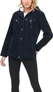 Levi's Women's The Mia Corduroy Oversized Hooded Sherpa Trucker Jacket