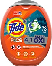 Tide Pods Ultra Oxi Liquid Laundry Detergent Pacs, 73 Count, Packaging May Vary
