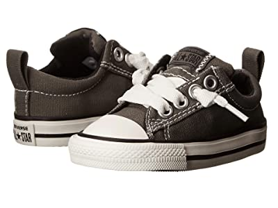 Converse Kids Chuck Taylor(r) All Star(r) Street Ox (Infant/Toddler) (Charcoal) Kid