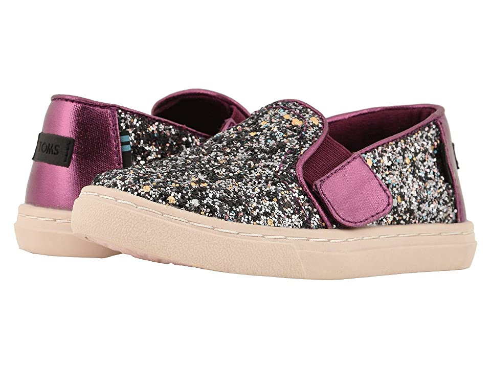 TOMS Kids Luca (Infant/Toddler/Little Kid) (Plum Party Glitter/Metallic Canvas Mix) Girl