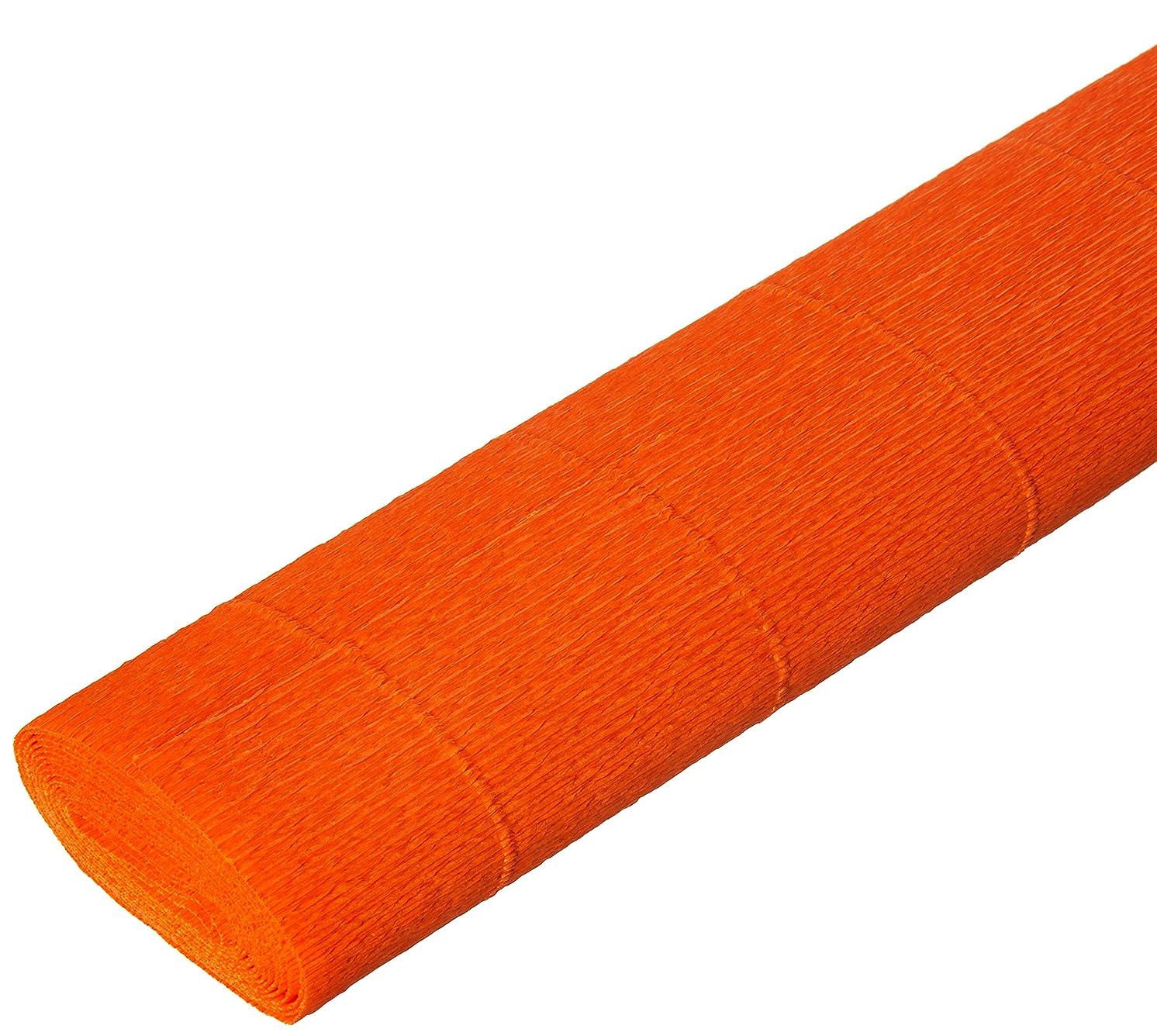 Interdruk BIKW106 Crepe Paper Premium 106 Ciemny Pomarańcz 200 x 50 cm, Multi-Color