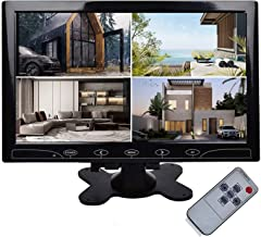 """TOGUARD 10.1"""" Inch Ultrathin Color Security CCTV Monitor 1024x600 Resolution Touch Buttons Video and Audio LED Display Scr..."""