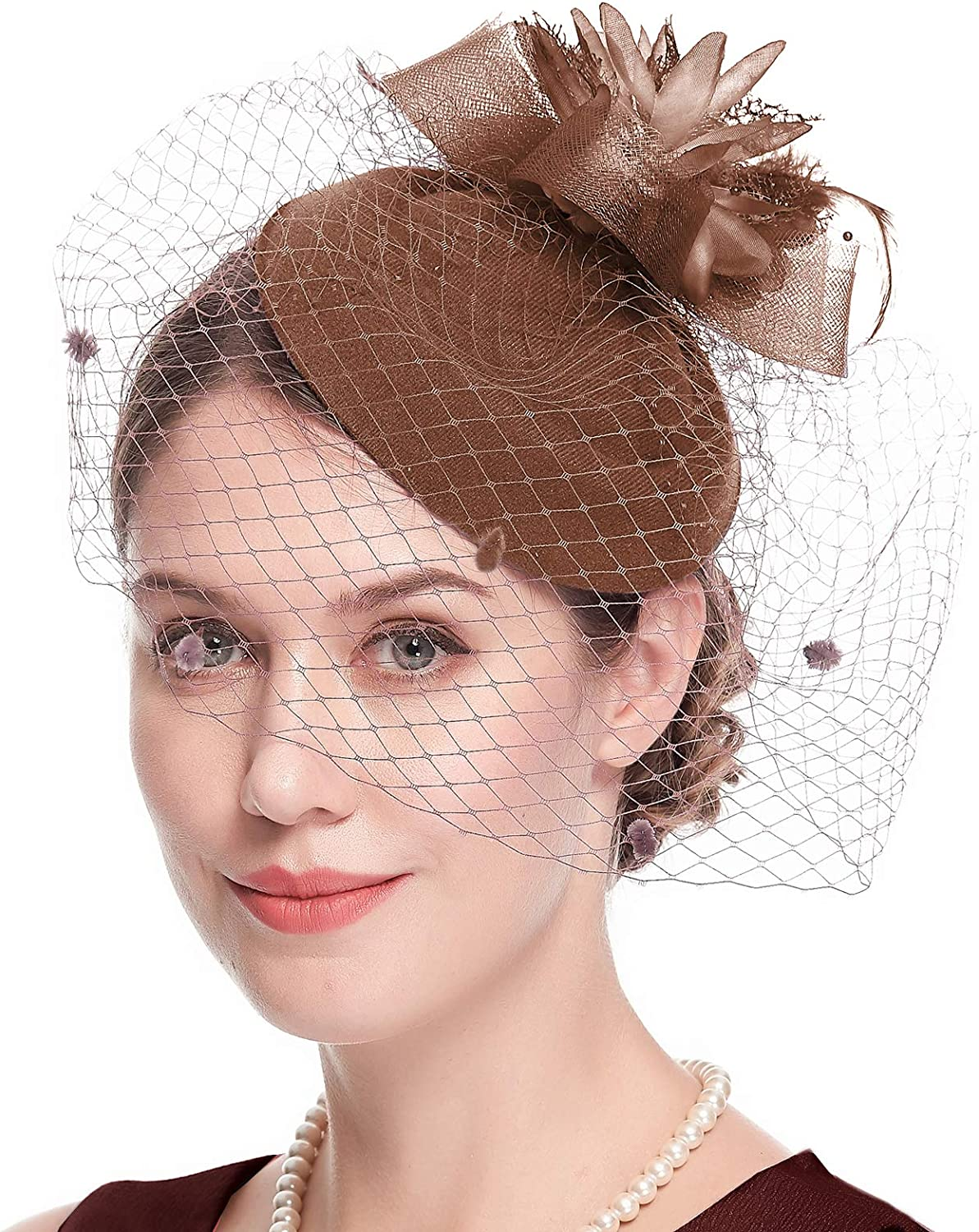 Max 79% OFF Cizoe Fascinator Hats for Women 20s 50s Pillbox Free shipping on posting reviews Hat Kent Vintage