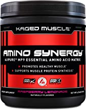 Kaged Muscle Amino Synergy, Vegan EAA Powder, Essential Amino Acid Supplement with Coconut Water, Essential Aminos, EAA's, Raspberry Lemonade, 30 Servings