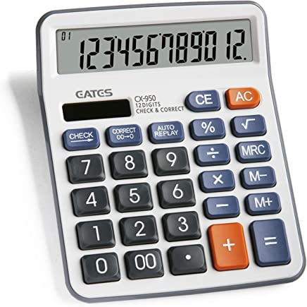 Check & Correct Function Desktop Calculator, Auto Replay Business, New Model CX-950 (White)