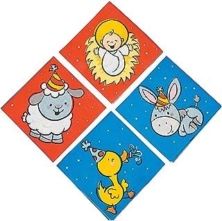 Fun Express - Happy Birthday Jesus Bev Napkin for Christmas - Party Supplies - Print Tableware - Print Napkins - Christmas - 16 Pieces