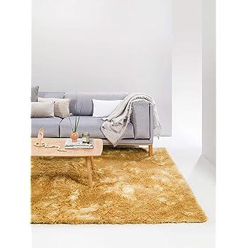 Berber Teppich 100/% Viskose Handgewebt Retro Look Kurzflorteppich Gelb 120x170cm