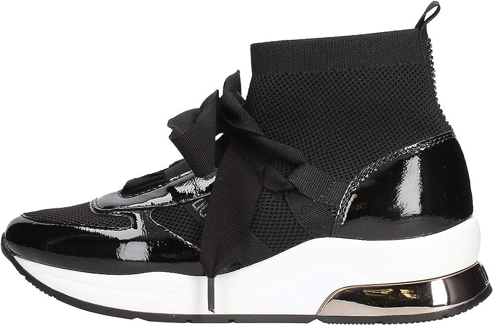 Liu jo jeans, polacchine a calza per  donna, calzature casual,in pelle e tessuto TX067 469703
