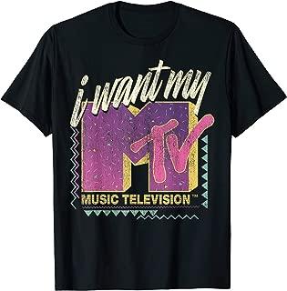 I Want My MTV 90's Retro Colorful Logo Graphic T-Shirt