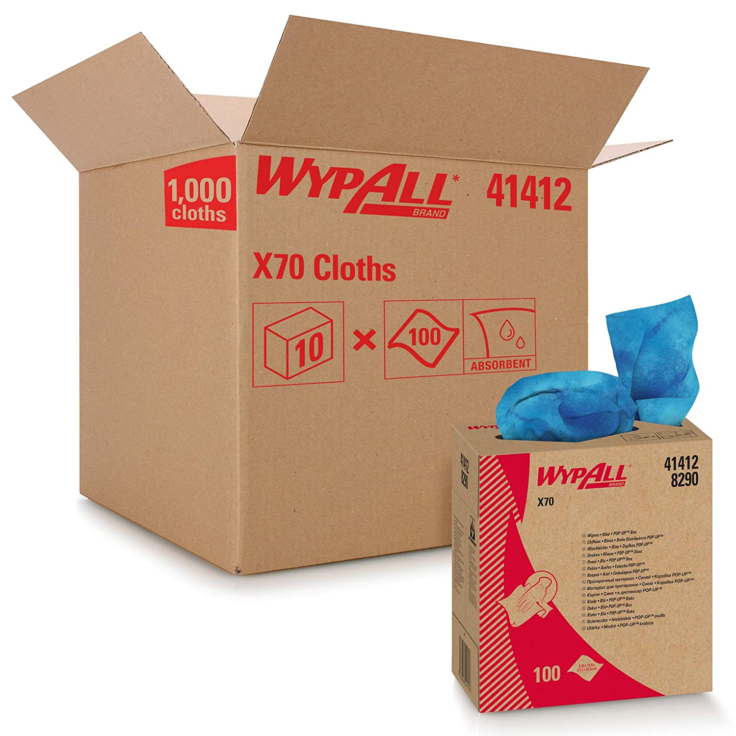 WypAll X70 Extended Use Reusable Box Pop-Up 41412 Blu Limited OFFicial shop Special Price Cloths