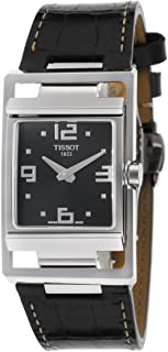 Tissot My-T Women'S Black Dial Leather Band Watch - T032.309.16.057.00