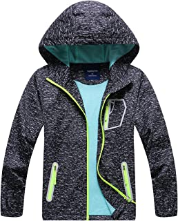 Hiheart Boys Girls Outdoor Quick Dry Lightweight Jacket with Hood