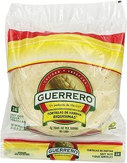 Guerrero Riquisimas Soft Taco Flour Tortillas | Trans Fat Free | Authentic, Small Size | 24 Count