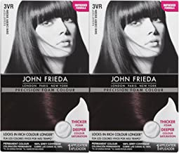 John Frieda Precision Foam Hair Colour, Deep Cherry Brown 3VR, 2 pk