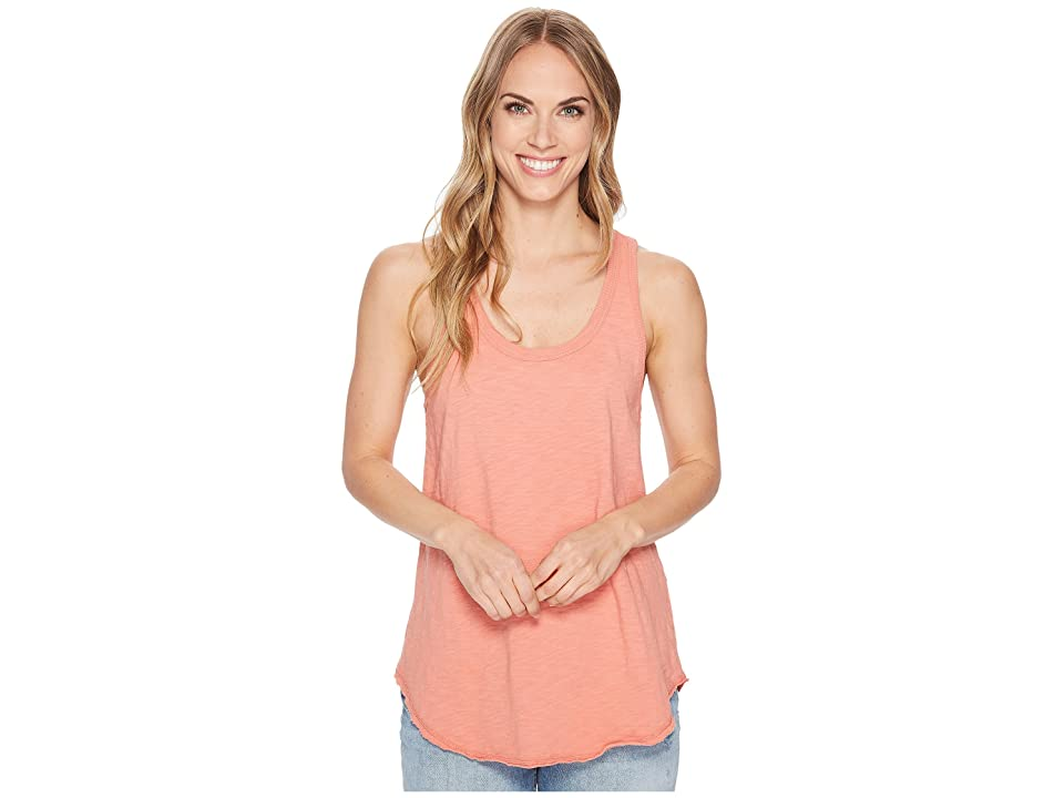 Dylan by True Grit Luxe Cotton Slub Shirttail Tank Top (Vintage Coral) Women