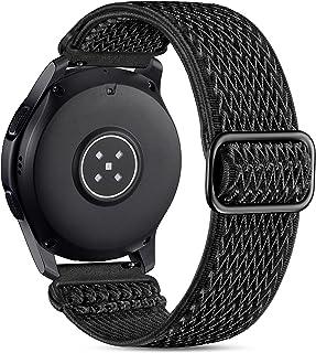 بند ساعت مچی Easuny 22mm سازگار با Samsung Galaxy Watch 3 بند 45 میلی متری/گلکسی واچ 46 میلی متری/Gear S3 Frontier ، دستبند حلقه ای بافته شده از جنس الاستیک قابل انعطاف برای مردان ، مشکی