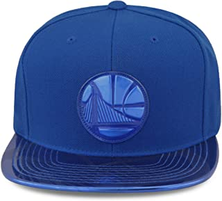 Mitchell & Ness Golden State Warriors Snapback Hat Cap Royal Foil (Patent Leather)