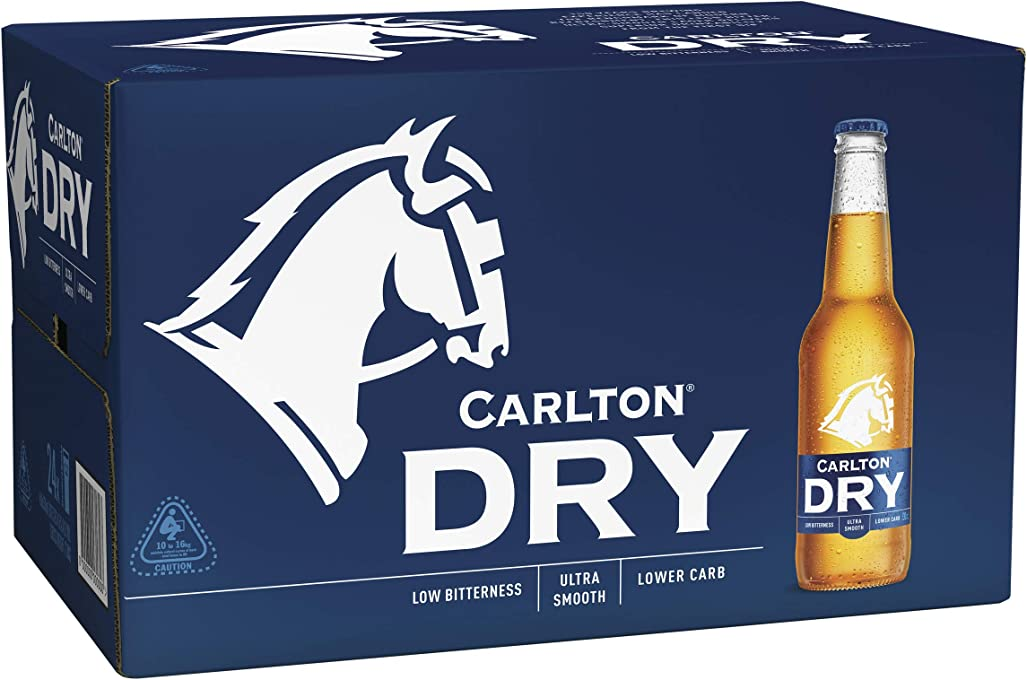 Carlton Dry Beer Case 24 x 330mL Bottle