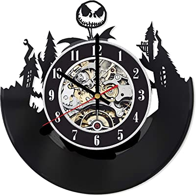 Jack Skellington Vinyl Clock, Nightmare Before Christmas Wall Clock, Nightmare Before Christmas Decor, Jack Skellington Wall Art, Gifts for Husband,, Wedding Gift