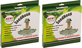 (2 Pack) SONGBIRD ESSENTIALS Seed Hoop Seed Catcher & Platform Feeder (24-Inch Diameter)