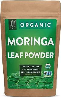 Organic Moringa Oleifera Leaf Powder | Perfect for Smoothies, Drinks, Tea & Recipes | 100% Raw From India | 8oz/226g Resea...