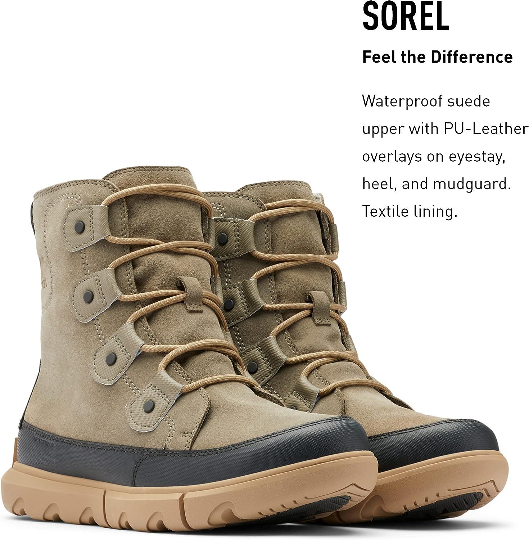 SOREL Men's Explorer Boot WP — Waterproof Suede Winter Boots