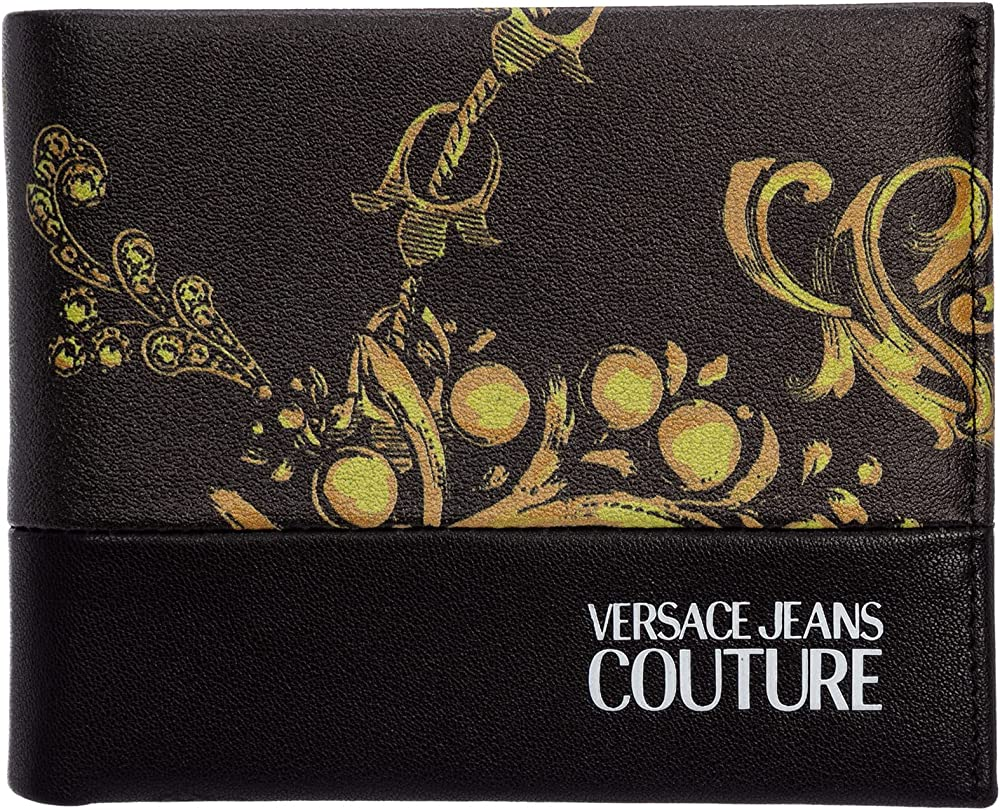 Versace jeans couture portafoglio da uomo in similpelle con stampa E71YA5PB1-EZS119_EG89
