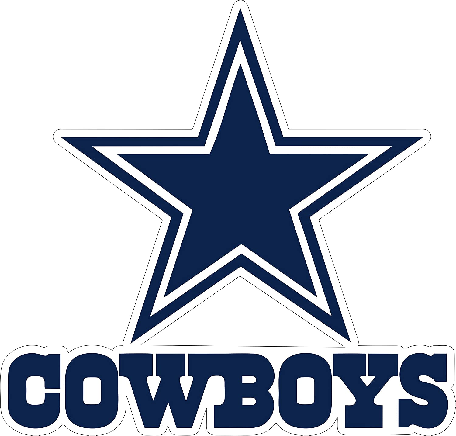 Laptop 12 inch Dallas Cowboy Vinyl Sticker Team Colors Any Size tumblers hemlet Dallas Star Stickers Decal Vinyl for car bamper