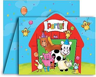 Creative Converting Barnyard Bash Party Invitations, 8 Count