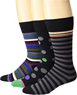 3-Pack Dots/Rope/Stripes Socks