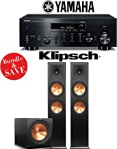 Yamaha R-N803BL Network Stereo A/V Receiver + Klipsch RP-280F + Klipsch R-115SW - 2.1-Ch Home Theater Package