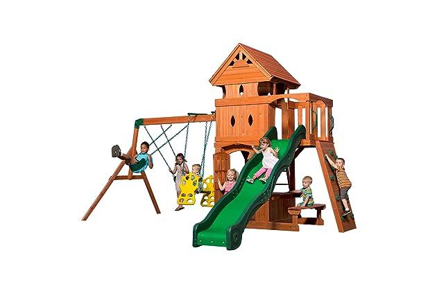 Backyard Discovery Monterey All Cedar Wood Playset Swing Set - Best Cedar Playsets For Backyards Amazon.com