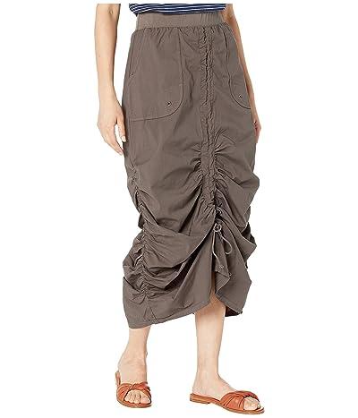 XCVI Wearables Vintage Skirt in Stretch Poplin (Oakmoss) Women