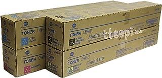Konica Minolta TN-512C TN-512Y TN-512M TN-512K Bizhub C454 C554 Toner Cartridge Set (Black Cyan Magenta Yellow, 4-Pack) in Retail Packaging