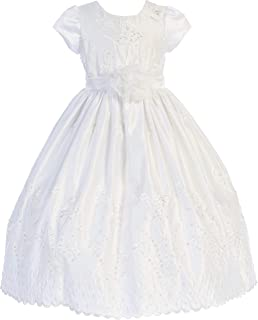 BNY Corner Short Sleeve Formal Holy First Communion Flower Girl Dress 4-18