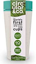 Circular&Co. - World's First Reusable Travel Mug Made from Recycled Coffee Cups, Marine Green (12oz)
