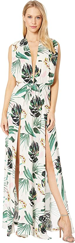 Ring Tropicals Overlap Maxi Dress