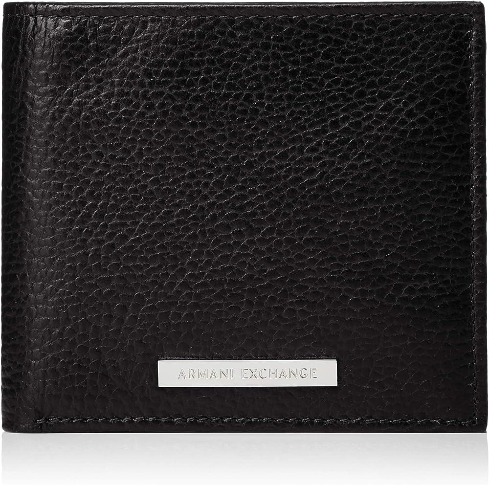 Armani exchange  portafoglio logo coin case in vera pelle 958098CC206