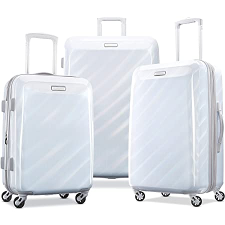Iridescent White 2-Piece Set 21//24 American Tourister Moonlight Hardside Expandable Luggage with Spinner Wheels