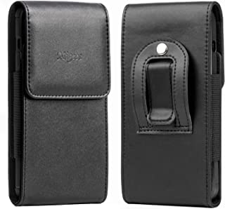 Migeec Cell Phone Pouch Holster Case with Belt Clip and Belt Loop [Magnetic Closure] PU Leather Case Compatible with iPhon...