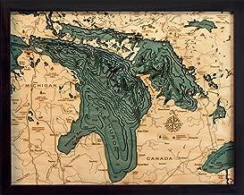 Lake Huron 3-D Nautical Wood Chart, 16