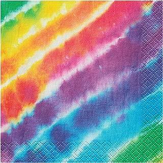 Rainbow Tie Dye Beverage Napkins, 16ct