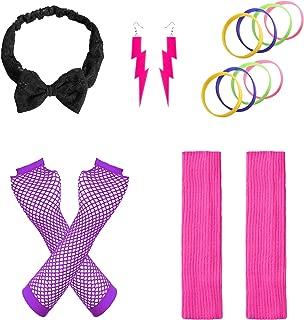 Women's 80s Outfit Accessories Neon Earrings Leg Warmers Gloves
