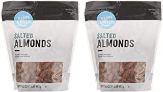 Best Amazon Brand - Happy Belly Roasted & Salted California Almonds, 16 Ounce, Pack of 2 Review