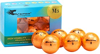 Chromax Metallic M5 Colored Golf Balls